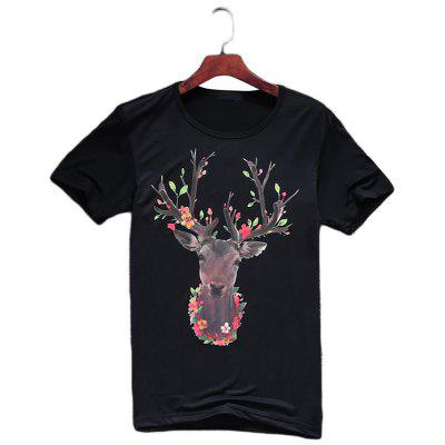 Fashionable Short Sleeve Handsome T-ShirtMens Short Sleeve Tees<br>Fashionable Short Sleeve Handsome T-Shirt<br><br>Collar: Round Neck<br>Fabric Type: Woolen<br>Material: Cotton<br>Package Contents: 1x T-shirt<br>Pattern Type: Animal<br>Sleeve Length: Short Sleeves<br>Style: Casual<br>Weight: 0.3800kg