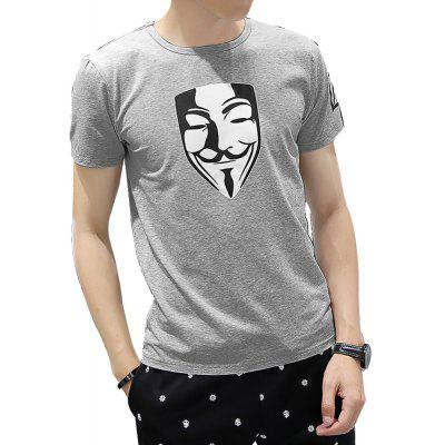 Fashion Short Sleeve Leisure T-ShirtMens Short Sleeve Tees<br>Fashion Short Sleeve Leisure T-Shirt<br><br>Collar: Round Neck<br>Fabric Type: Woolen<br>Material: Cotton<br>Package Contents: 1x T-shirt<br>Pattern Type: Others<br>Sleeve Length: Short Sleeves<br>Style: Casual<br>Weight: 0.3800kg