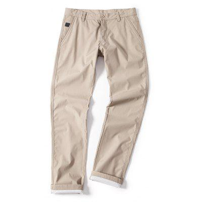 Young Solid-Colored Casual Pants