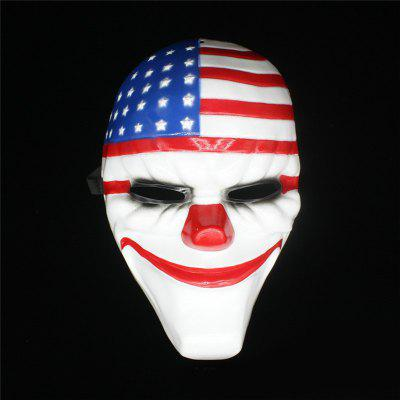 Halloween Horror Mask Payday Mask Plastic  Old Head Clown Flag Masquerade Supplies