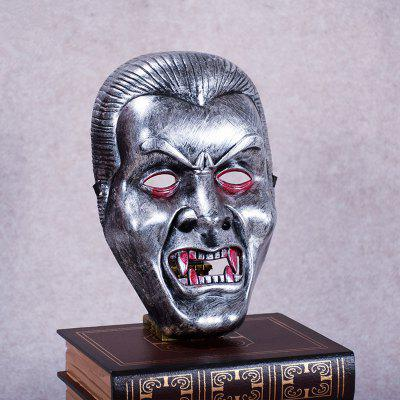 Buy Vampire Face Mask Big Devil Shape Gray Plastic Masks Halloween Intimidation Dracula Party Decorating SILVER GRAY for $2.36 in GearBest store