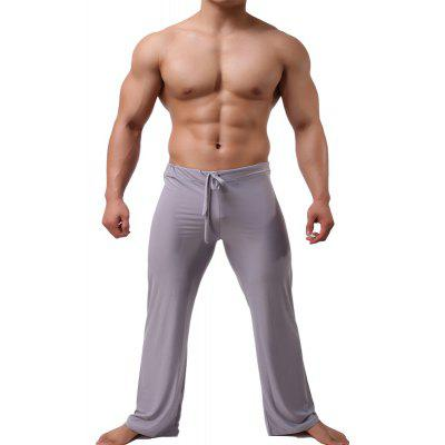 Men's Trousers Ice Silky Straight Tube Loose String Household Leisure Pants
