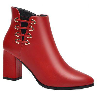 Feminino Grosso com Pointy Head High Heel Chelsea Ankle Boots