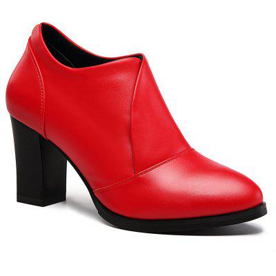 Thick and Deep-Mouth Single Shoe OL High Heels