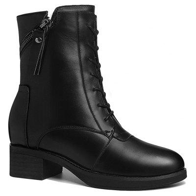 The Women Velvet Square and Motorcycle Boots
