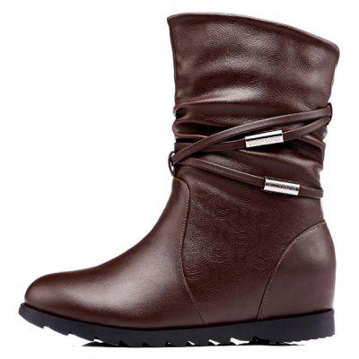 Flat Bottom Raised with A Velvet Short Tube Martin BootWomens Boots<br>Flat Bottom Raised with A Velvet Short Tube Martin Boot<br><br>Boot Height: Ankle<br>Boot Type: Fashion Boots<br>Closure Type: Zip<br>Gender: For Women<br>Heel Type: Flat Heel<br>Package Contents: 1x shoes (pair)<br>Pattern Type: Solid<br>Season: Winter<br>Toe Shape: Round Toe<br>Upper Material: PU<br>Weight: 1.6896kg