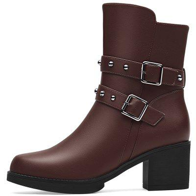Female Thick with Velvet Martin BootWomens Boots<br>Female Thick with Velvet Martin Boot<br><br>Boot Height: Ankle<br>Boot Type: Fashion Boots<br>Closure Type: Zip<br>Gender: For Women<br>Heel Type: Chunky Heel<br>Package Contents: 1x shoes (pair)<br>Pattern Type: Solid<br>Season: Winter<br>Toe Shape: Round Toe<br>Upper Material: PU<br>Weight: 1.6896kg