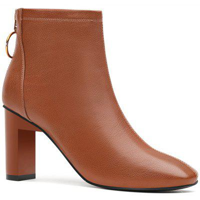 High Heel Square and Short Tube Martin Boot