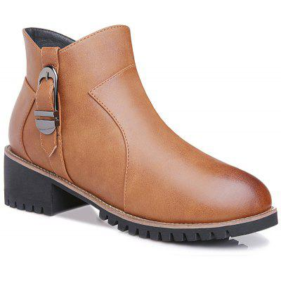 Coarse and Stuffed Round Short Boots