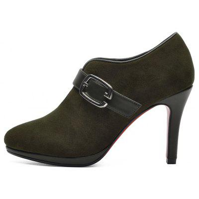 Skinny and Low-Cut BootsWomens Boots<br>Skinny and Low-Cut Boots<br><br>Boot Height: Ankle<br>Boot Type: Fashion Boots<br>Closure Type: Buckle Strap<br>Gender: For Women<br>Heel Type: Stiletto Heel<br>Package Contents: 1x shoes (pair)<br>Pattern Type: Solid<br>Season: Spring/Fall<br>Toe Shape: Pointed Toe<br>Upper Material: Suede<br>Weight: 1.6896kg