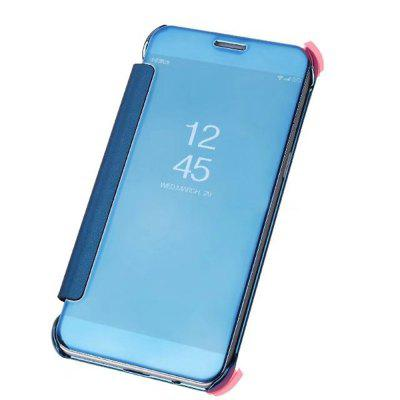 Case Cover for Samsung Galaxy A8(2018) Luxury Clear View Mirror Flip Smart transparent surface shockproof back pc case for samsung galaxy a8 2018