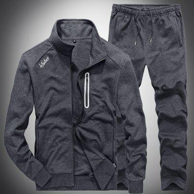 Casual Sports All Match Running Outdoor SetCasual Sports All Match Running Outdoor Set<br><br>Elasticity: Micro-elastic<br>Material: Cotton<br>Package Contents: 1 x Coat,1 x Pants<br>Pattern Type: Solid<br>Weight: 1.0000kg