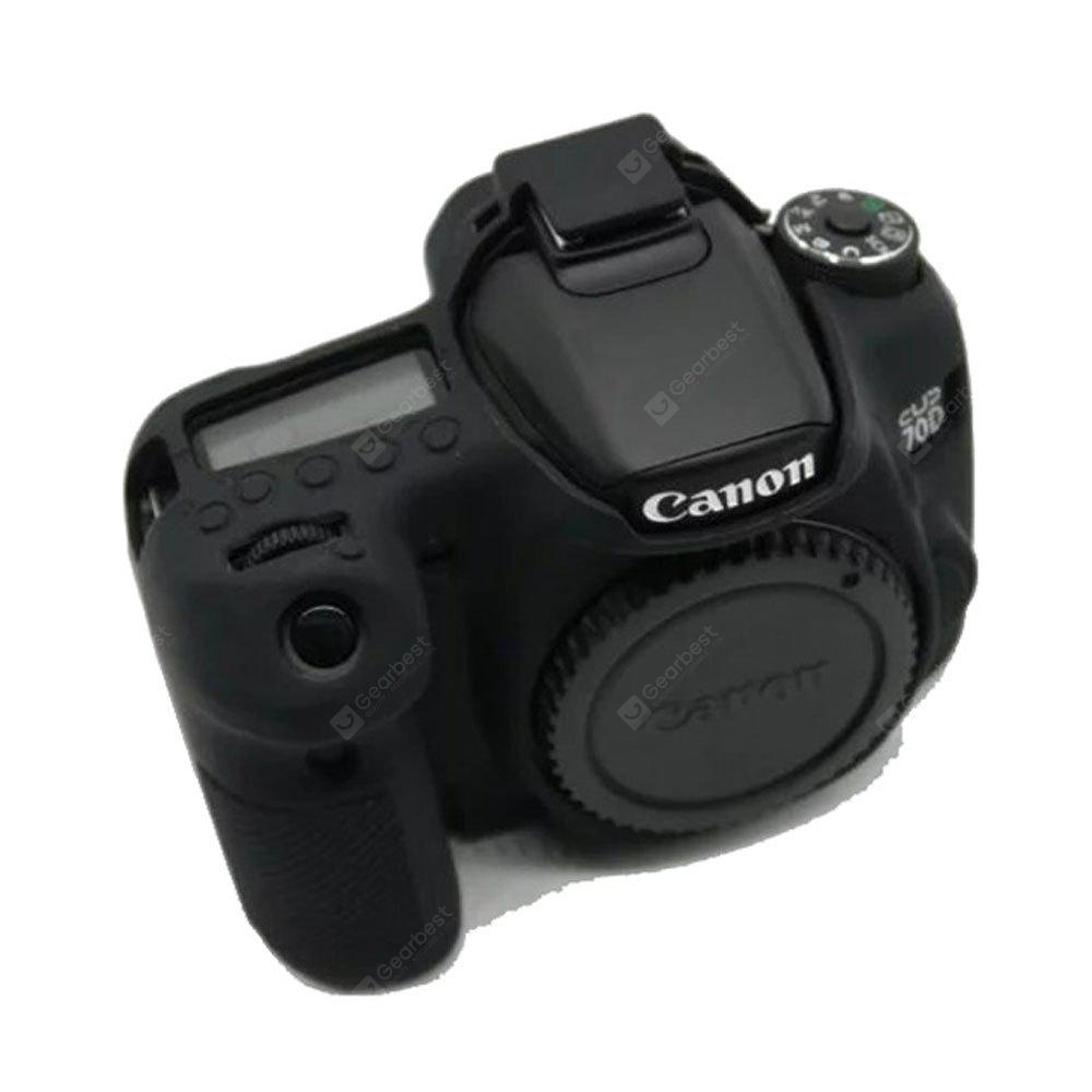 Soft Silicone Armor Skin Rubber Camera Cover Case Bag for Canon EOS 70D