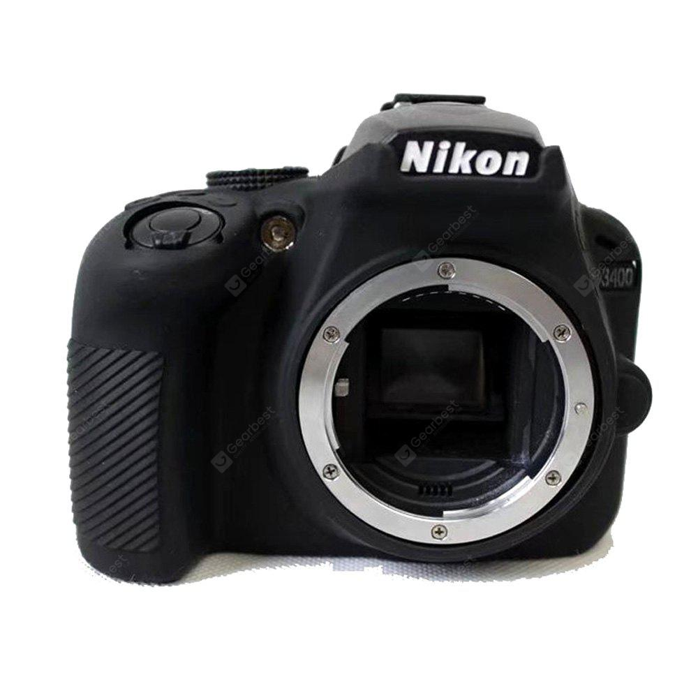 Soft Silicone Armor Skin Rubber Camera Cover Case Bag for Nikon D3400