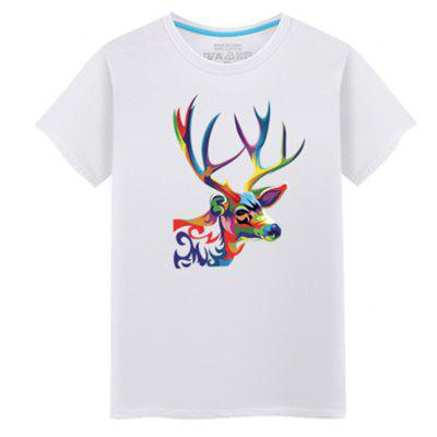 Men's Short Sleeved Students Simple and Fashionable Summer T - Shirt