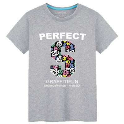 Men's Students Summer Simple Fashion Lovers T-Shirt