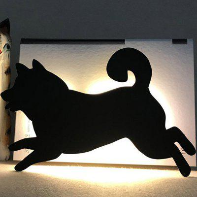 Optically Controlled Sound Control Running Dog Night Light Shadow LED Projection Lamp