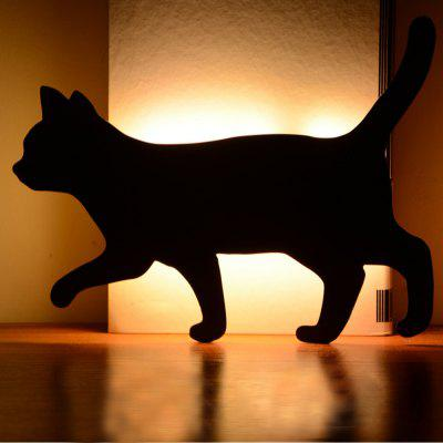 Optically Controlled Sound Control Walking Cat Night Light Shadow LED Projection Lamp
