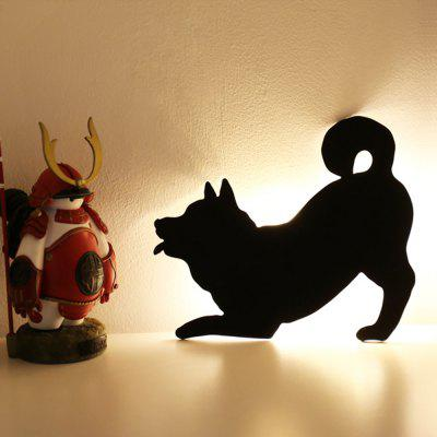 Optically Controlled Sound Control Dog Night Light Shadow LED Projection Lamp