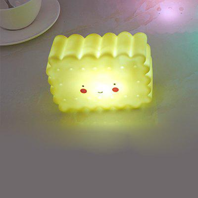 Lovely Yellow Biscuit Children Room Decorative Small Night Light Feeding Lamp