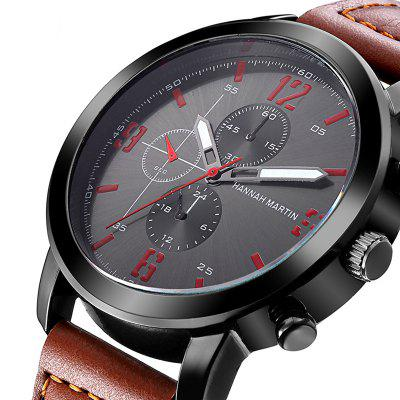 Men Leather Band Casual Fashion Wrist Quartz Watch for DressingMens Watches<br>Men Leather Band Casual Fashion Wrist Quartz Watch for Dressing<br><br>Available Color: Black,Brown,Army green<br>Band material: Nylon + Leather<br>Band size: 25 x 2 cm<br>Brand: Hannah Martin<br>Case material: Steel<br>Clasp type: Pin buckle<br>Dial size: 4.2 x 4.2 x 1 cm<br>Display type: Analog<br>Movement type: Quartz watch<br>Package Contents: 1 x Quartz Watch<br>Package size (L x W x H): 15.00 x 10.00 x 5.00 cm / 5.91 x 3.94 x 1.97 inches<br>Package weight: 0.0600 kg<br>Product size (L x W x H): 25.00 x 4.20 x 1.00 cm / 9.84 x 1.65 x 0.39 inches<br>Product weight: 0.0500 kg<br>Shape of the dial: Round<br>Special features: Decorative sub-dial<br>Watch color: Brown / Black / Army Blue<br>Watch mirror: Mineral glass<br>Watch style: Fashion, Outdoor Sports, Casual<br>Watches categories: Men<br>Water resistance: 30 meters