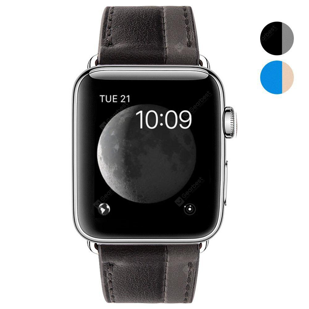 42mm Cow Leather Strap Band for iWatch Apple Watch Series 1 / Series 2 Hit Color