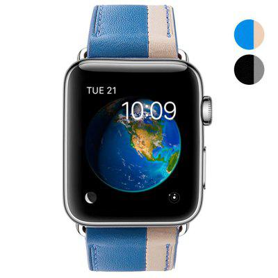 38mm Cow Leather Strap Band for iWatch Apple Watch Series 1 / Series 2 Hit Color