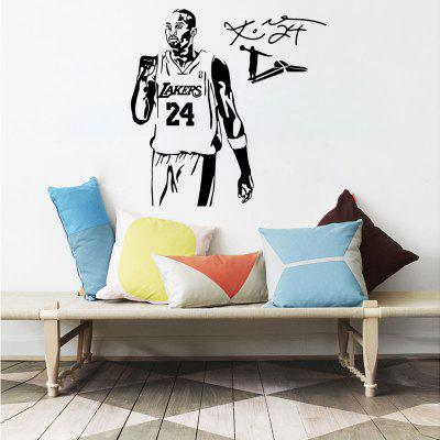 Basketball Player Sports Athlete Lakers 24 Vinyl Wall Stickers for Kids RoomWall Stickers<br>Basketball Player Sports Athlete Lakers 24 Vinyl Wall Stickers for Kids Room<br><br>Art Style: Plane Wall Stickers, Toilet Stickers<br>Color Scheme: Black<br>Function: Decorative Wall Sticker<br>Material: Paper, Vinyl(PVC)<br>Package Contents: 1 x wall sticker, 1 x transfer sheet<br>Package size (L x W x H): 47.00 x 5.00 x 5.00 cm / 18.5 x 1.97 x 1.97 inches<br>Package weight: 0.1700 kg<br>Quantity: 1<br>Sizes: Others<br>Subjects: People,Figure Painting,Shape,Words / Quotes<br>Suitable Space: Living Room,Bedroom,Office,Kids Room,Corridor,Kids Room,Study Room / Office<br>Type: Plane Wall Sticker