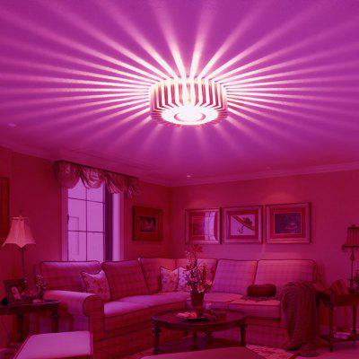 Buy PINK LIGHT JIAWEN LED Wall Light Lamp Round Sunflower 1W Aluminum Indoor Home Bar KTV Living Room Corridor Hotel Holiday Decor for $13.54 in GearBest store