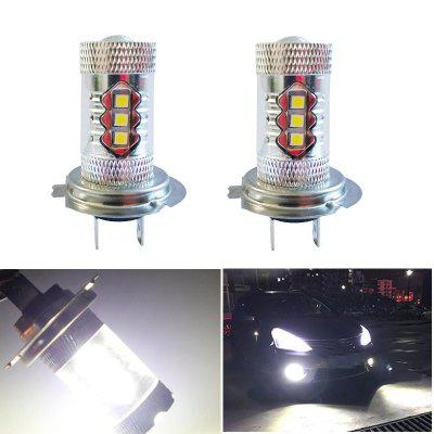 2PCS H7 16SMD 3030 80W 6500K -7000K LED Bulb for Car LED Fog Light Head Lamp DC12-24V