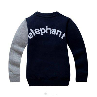 SOSOCOER Children Clothing 2-7T Cartoon Elephant Long Sleeved SweatshirtBoys Tops &amp; T-shirts<br>SOSOCOER Children Clothing 2-7T Cartoon Elephant Long Sleeved Sweatshirt<br><br>Collar: Round Neck<br>Embellishment: Pattern<br>Material: Cotton, Polyester<br>Package Contents: 1 x Sweatshirt<br>Pattern Type: Animal<br>Sleeve Length: Full<br>Style: Fashion<br>Weight: 0.2100kg