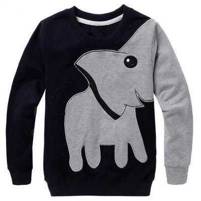 SOSOCOER Children Clothing 2-7T Cartoon Elephant Long Sleeved Sweatshirt