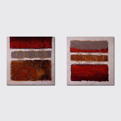 QiaoJiaHuaYuan No Frame Canvas Sala de estar simples Double - Link Abstract Decoration Hanging Print