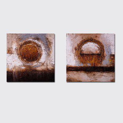 QiaoJiaHuaYuan No Frame Canvas Simple Living Room Sofa Background Abstract Decorative Print