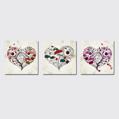QiaoJiaHuaYuan No Frame Canvas Sala de estar Sofa Background Triplet Picture Simple Abstract Heart Decoration Hanging
