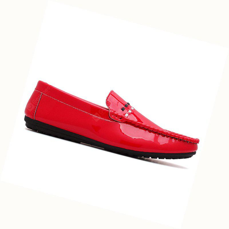 Spring New Shiny Leather Loafers Shoes For Men -  37.81 Free ... f1027a9a09c4