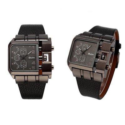 Mens Watch for Foreign Trade and Leisure Single CoreMens Watches<br>Mens Watch for Foreign Trade and Leisure Single Core<br><br>Band material: PU Leather<br>Case material: Alloy<br>Clasp type: Pin buckle<br>Display type: Analog<br>Movement type: Quartz watch<br>Package Contents: 1 X WATCH<br>Package size (L x W x H): 10.00 x 5.00 x 3.00 cm / 3.94 x 1.97 x 1.18 inches<br>Package weight: 0.2000 kg<br>Shape of the dial: Square<br>Special features: GMT, Multi Time Zones, Decorative sub-dial<br>Watch style: Trends in outdoor sports, Cool, Business, Fashion, Casual<br>Watches categories: Men