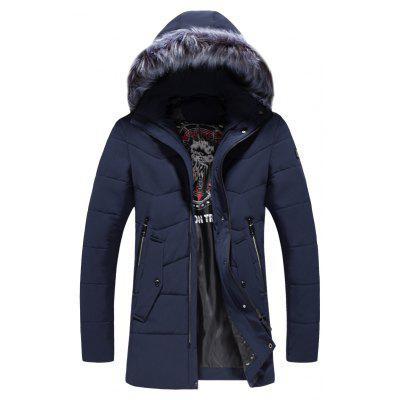2018 Men's Warm Fashion Long Cotton Coat