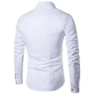 Mens Shirts Long Sleeve Double Breasted Casual ShirtsMens Shirts<br>Mens Shirts Long Sleeve Double Breasted Casual Shirts<br><br>Collar: Turn-down Collar<br>Fabric Type: Broadcloth<br>Material: Cotton, Cotton Blends<br>Package Contents: 1 x Shirt<br>Shirts Type: Casual Shirts<br>Sleeve Length: Full<br>Weight: 0.2200kg
