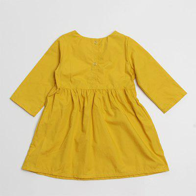 2018 Spring Autumn Girl Dress Casual Solid Color Long-Sleeved Children ClothesGirls dresses<br>2018 Spring Autumn Girl Dress Casual Solid Color Long-Sleeved Children Clothes<br><br>Dresses Length: Knee-Length<br>Elasticity: Micro-elastic<br>Fabric Type: Broadcloth<br>Material: Cotton, Polyester<br>Neckline: Round Collar<br>Package Contents: 1 x Girl Dress<br>Pattern Type: Solid<br>Season: Fall, Summer, Spring<br>Silhouette: A-Line<br>Sleeve Length: Long Sleeves<br>Style: Casual<br>Waist: Natural<br>Weight: 0.0700kg<br>With Belt: No
