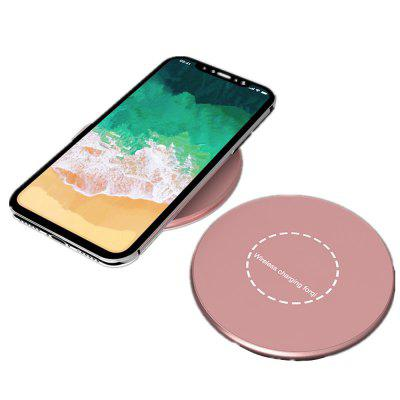 Pad de chargeur sans fil en alliage d'aluminium portable pour iPhone X / 8/8 plus / Samsung Galaxy Note 8 / S8 / S8Plus