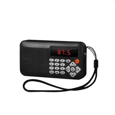 Mini Portable Dual Band Rechargeable Digital LED Display Panel Stereo FM Radio Speaker USB TF Mirco for SD Card MP3