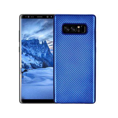 Electroplated Carbon Fiber Case for Samsung Galaxy Note 8 TPU Soft Back Cover
