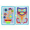 Colorful Mosaic Pegboard Nail Jigsaw Game Educational DIY Toys 296PCS - COLORFUL