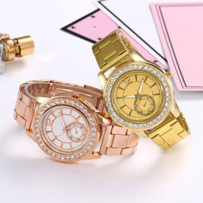 Khorasan Single Eye Alloy Steel with Rhinestone Quartz WatchUnisex Watches<br>Khorasan Single Eye Alloy Steel with Rhinestone Quartz Watch<br><br>Available Color: Rose Gold,Silver,Gold<br>Band material: Alloys<br>Band size: 22.5 x 2CM<br>Case material: Alloy<br>Clasp type: Folding clasp with safety<br>Dial size: 4 x 4 x 1CM<br>Display type: Analog<br>Movement type: Quartz watch<br>Package Contents: 1 x Watch<br>Package size (L x W x H): 35.00 x 19.50 x 23.00 cm / 13.78 x 7.68 x 9.06 inches<br>Package weight: 0.0850 kg<br>People: Male table,Female table,Unisex table<br>Product size (L x W x H): 22.50 x 4.00 x 1.00 cm / 8.86 x 1.57 x 0.39 inches<br>Product weight: 0.0800 kg<br>Shape of the dial: Round<br>Watch style: Fashion, Casual