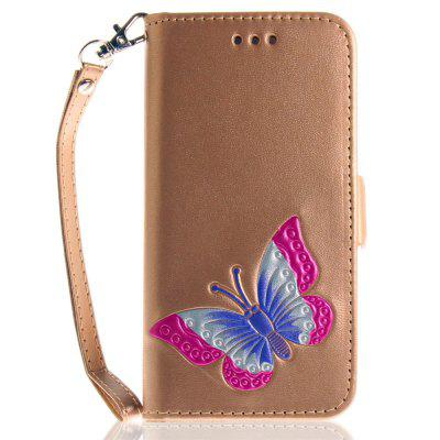 Hand-painted Butterfly Fashion Wallet Case For IPhone 7 Case PU luxury Flip Leather Case Phone Bag With Stand