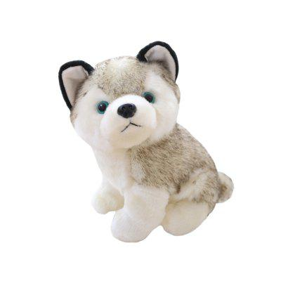 Husky Plush Toy Simulation Animal Dog Doll Regalo de cumpleaños para niños