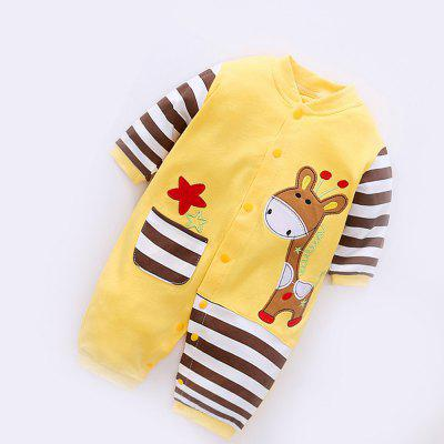 Childrens Clothing Spring and Autumn Newborn Baby Clothes Cotton Coveralls Crawling Jumpersbaby clothing sets<br>Childrens Clothing Spring and Autumn Newborn Baby Clothes Cotton Coveralls Crawling Jumpers<br><br>Closure Type: Single Breasted<br>Collar: V-Neck<br>Gender: Unisex<br>Material: Cotton<br>Package Contents: 1 x Romper<br>Season: Winter<br>Sleeve Length: Full<br>Thickness: Thin<br>Weight: 0.6000kg