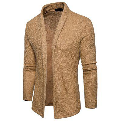 The New Spring Fashion Men Polo Shawl Knitted Cardigan Sweater