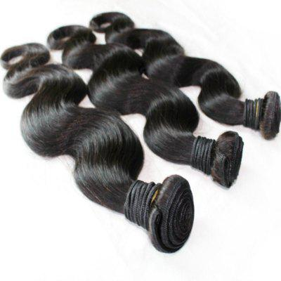 Body Wave Cabelo peruano de 100 por cento Weave 18 polegadas 4pcs / lot